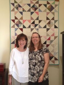 Barbara and me with quilt